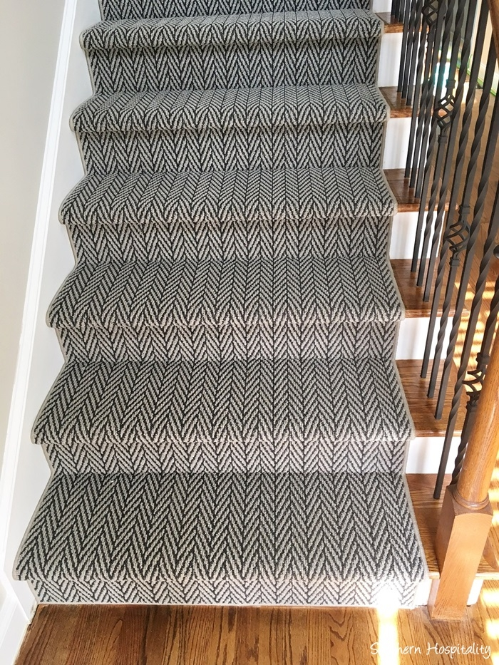 Shaw Floors Carpet Runner Southern Hospitality   Herringbone Carpet On Stairs   Edgecomb Gray   Design   High Traffic   Commercial   Light Grey Grey