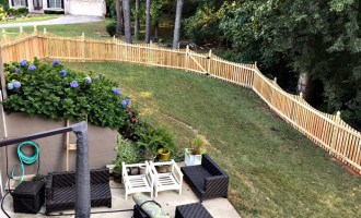 New Backyard Fence