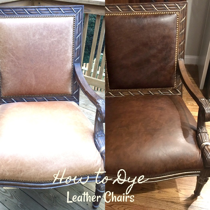 DIY dying leather chairs