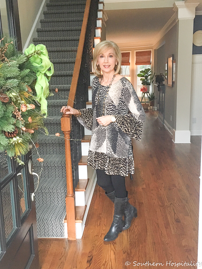 58a77dbaa4c Fashion over 50  Dress and Boots - Southern Hospitality