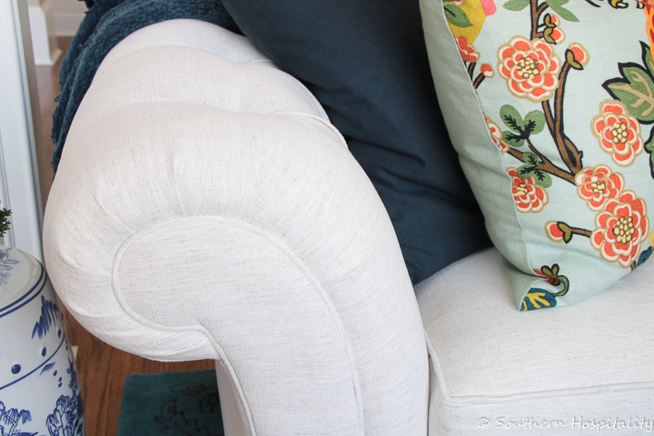 Living Room: Recovering a 14 Year Old Sofa