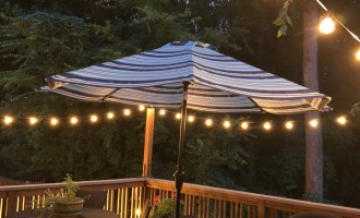 Adding Patio String Lights to the Deck!
