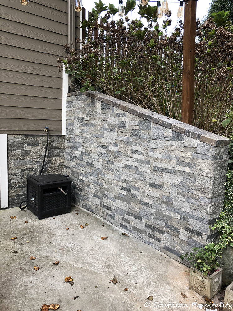Airstone Faux Stones On Concrete Wall Install Southern
