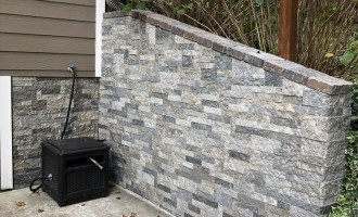 Airstone Faux Stones on Concrete Wall Install