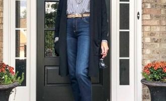 Fashion over 50:  Long Black Cardigan