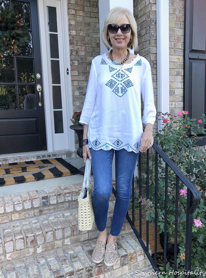 31a3893fd21e Fashion over 50  Jeans and Leopard - Southern Hospitality