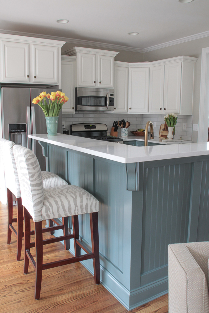 Blue And White Kitchen Renovation Reveal Southern Hospitality