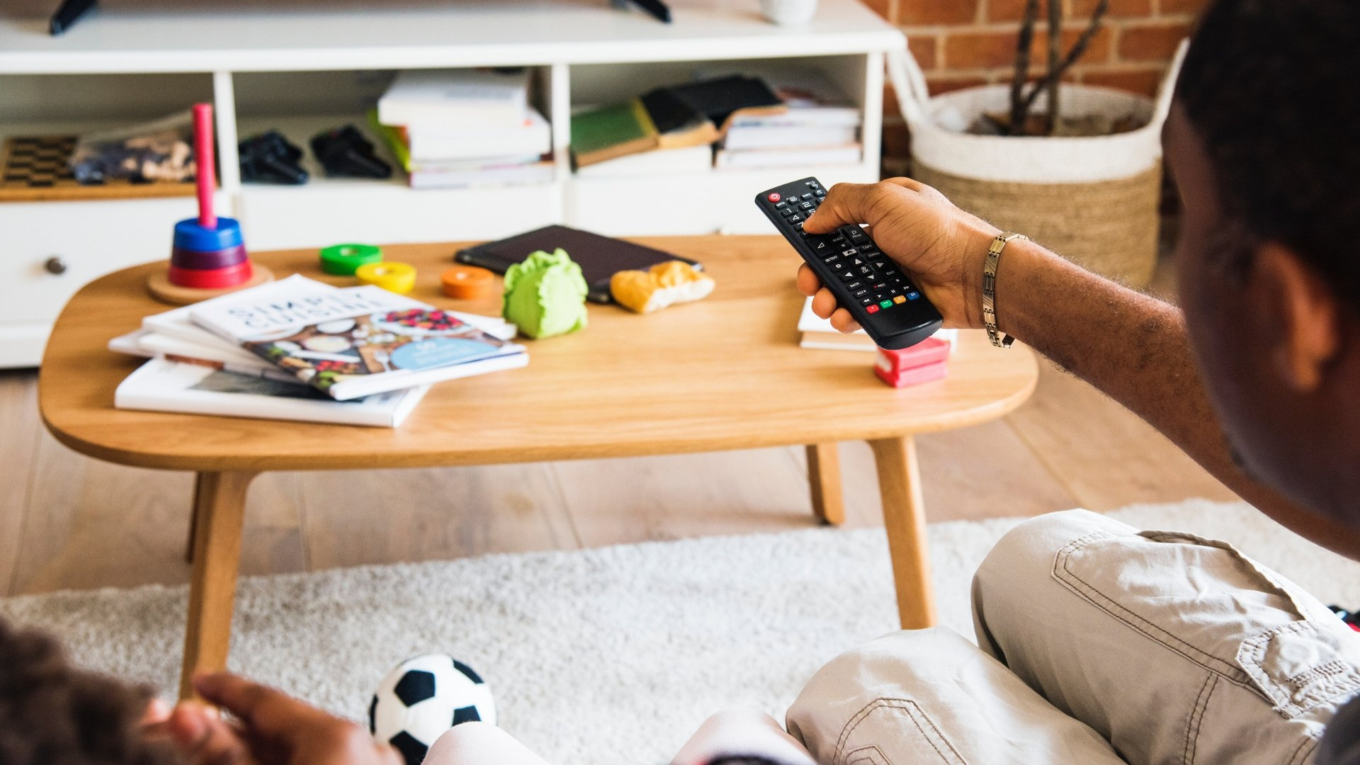 Man Relaxing and Watching TV - Zoning System