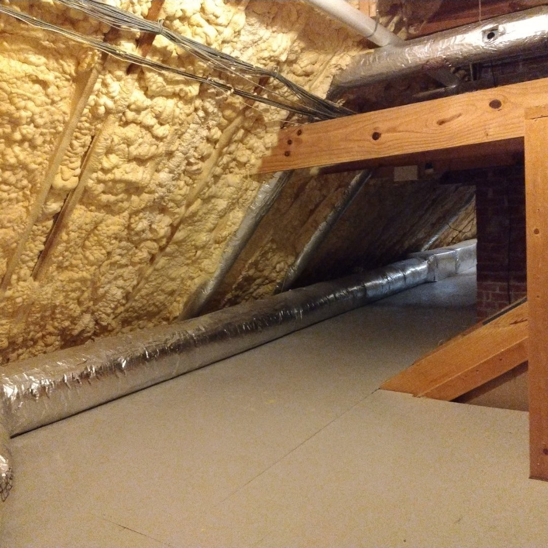 Insulation Installed During Attic Encapsulation - Gallery