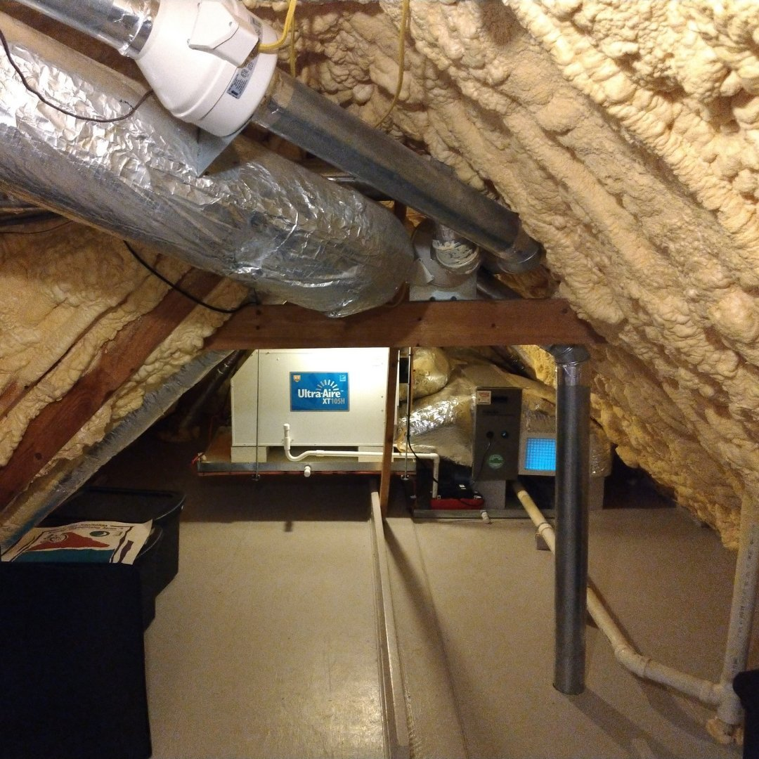Attic Encapsulation - Dehumidifier - Insulation - Duct Sealing - Gallery
