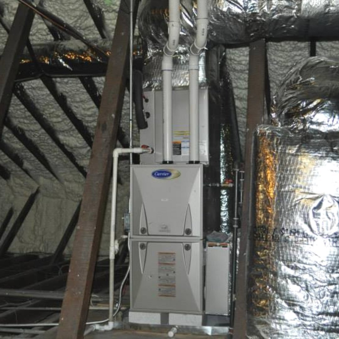 HVAC Unit and Insulation Installed During Attic Encapsulation - Page Gallery