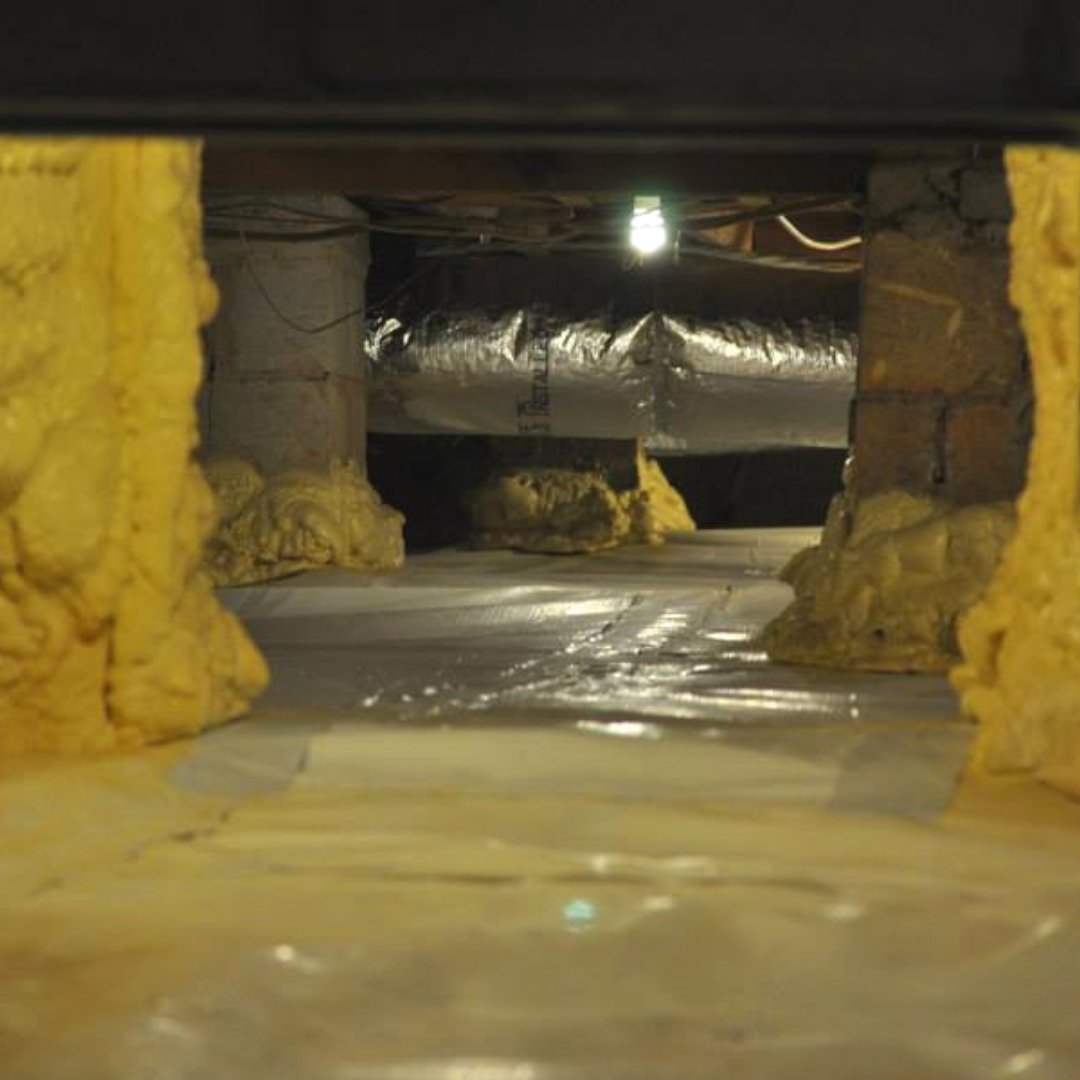 Duct work and Encapsulation in Crawlspace - Page Gallery