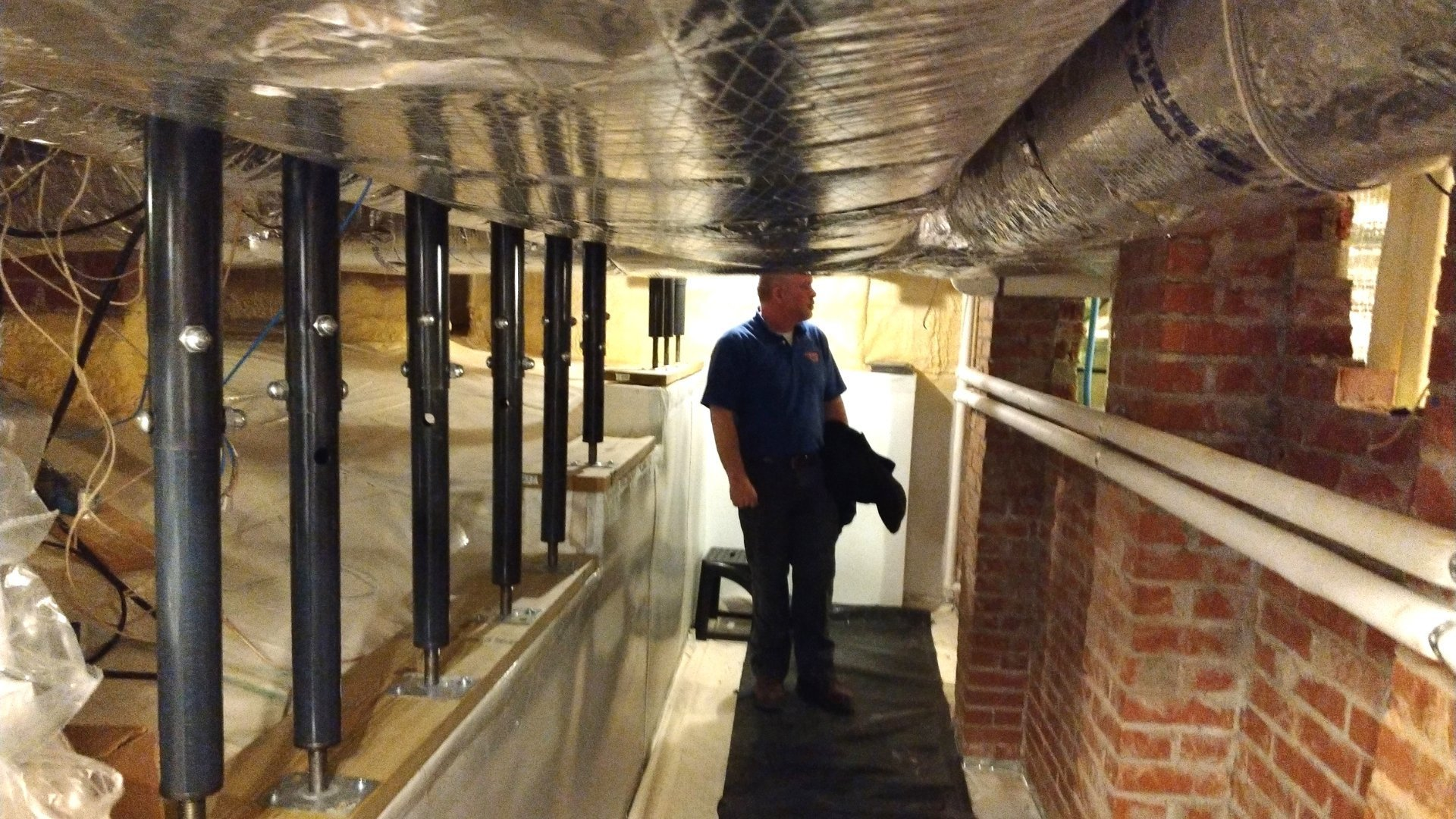 Metal Beam Supports in Crawlspace - Encapsulation Page Gallery