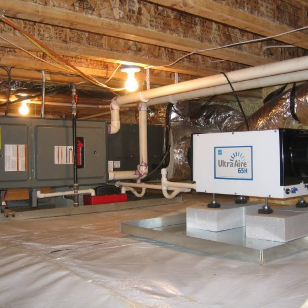 Dehumidifier and Furnace in Encapsulated Crawlspace - Page Gallery