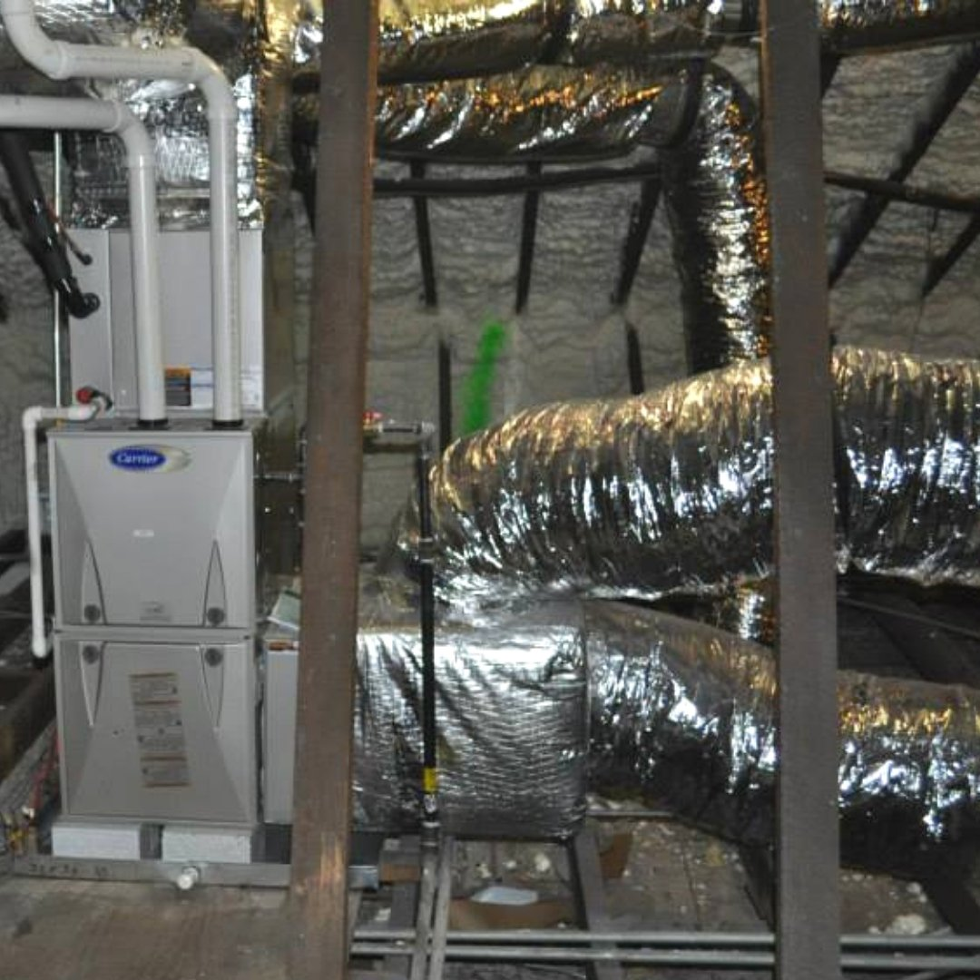 Heating Unit Installed During Attic Encapsulation - Heating Page Gallery
