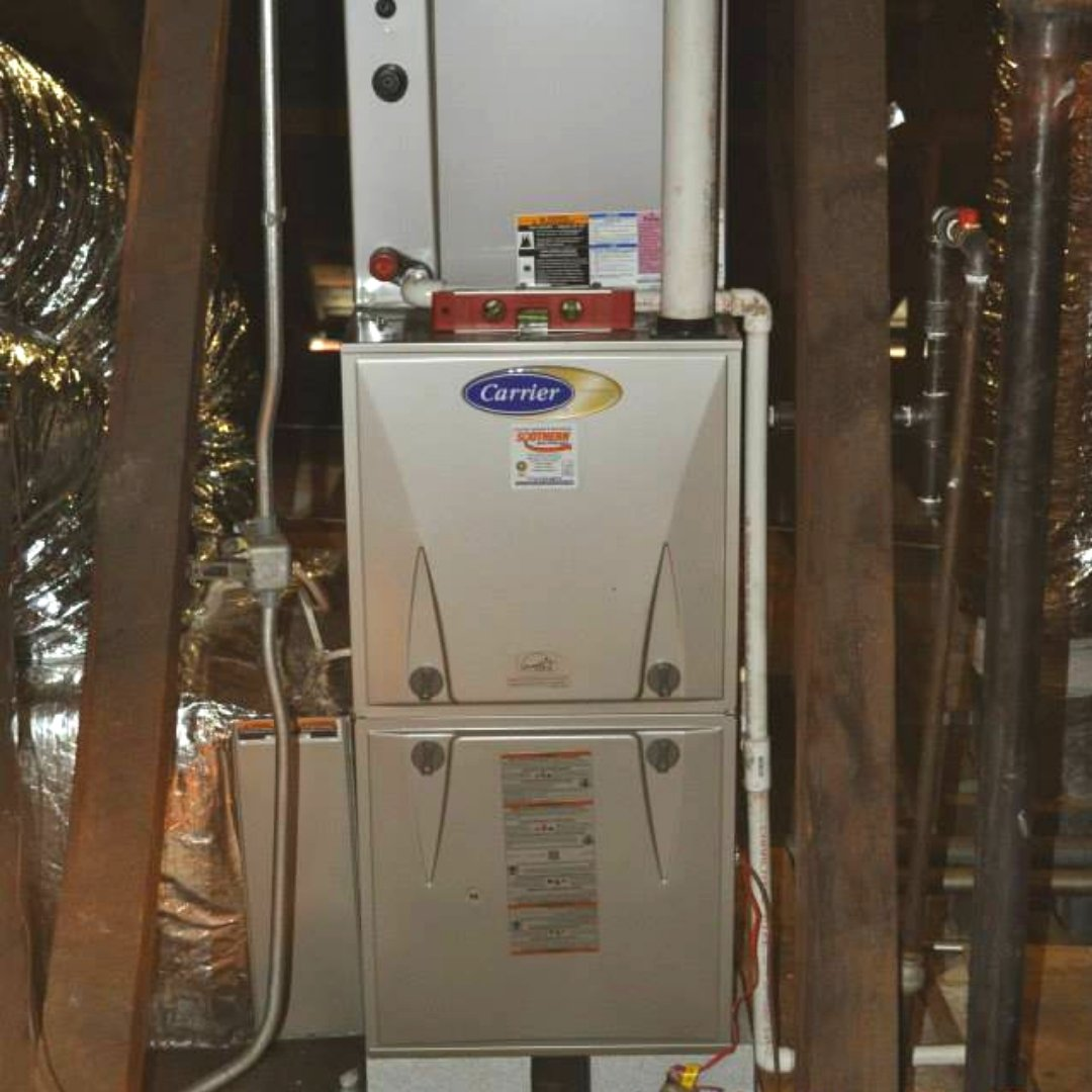 Furnace Installed During Attic Encapsulation - Heating Page Gallery