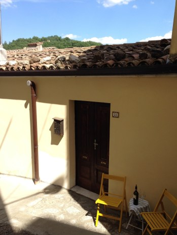 Ancient streets at your doorstep await you in Calitri, Italy. Relax with a glass of local wine!