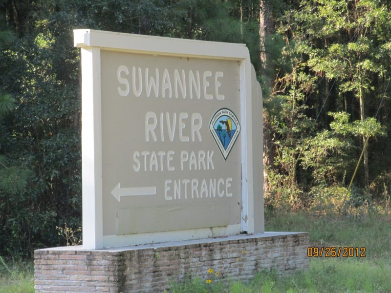 Entrance to Suwannee River State Park