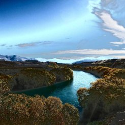 The Clutha River from the Newcastle mountain bike trail