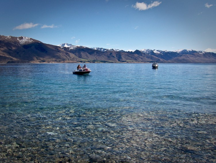 Lake Hawea water clarity