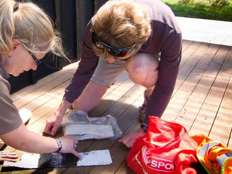 Examining tracking tunnel cards for footprints