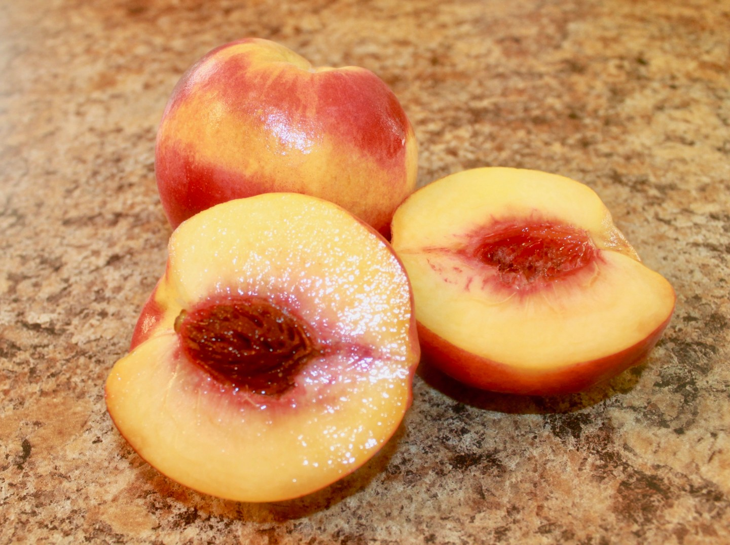 List of ingredients for a Peach Cobbler Recipe