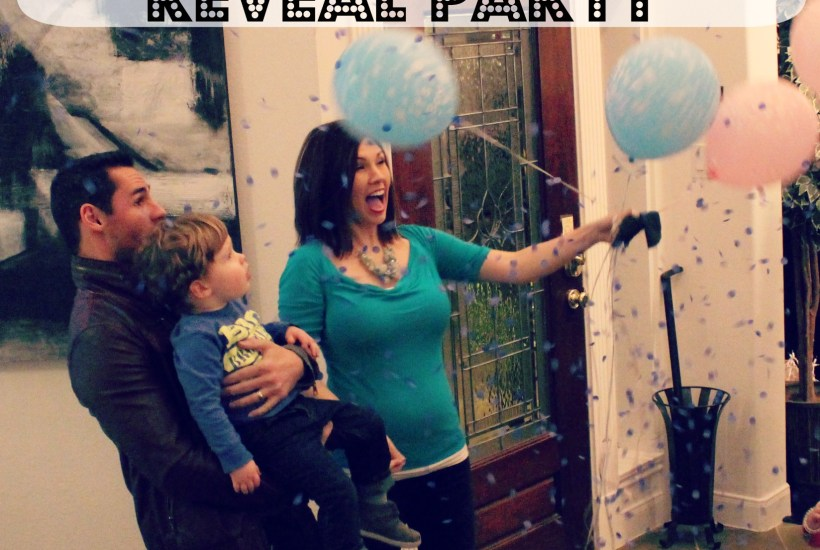 Confetti Balloon Gender Reveal Party - Southern Made Blog