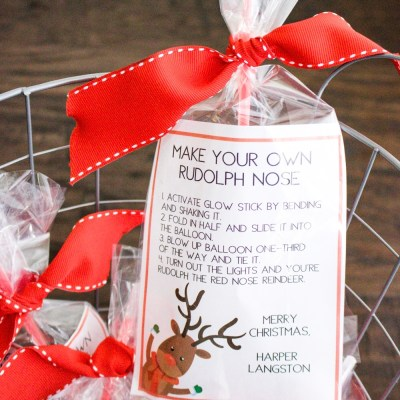 Rudolph the Red Nosed Reindeer Gift Bags | Southern Made Blog This fun, little holiday gift idea is perfect for classmates or your kid's friends. *Free printable*