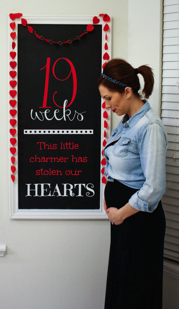 Southern Made Blog- 19 weeks Pregnancy Chalkboard Tracker