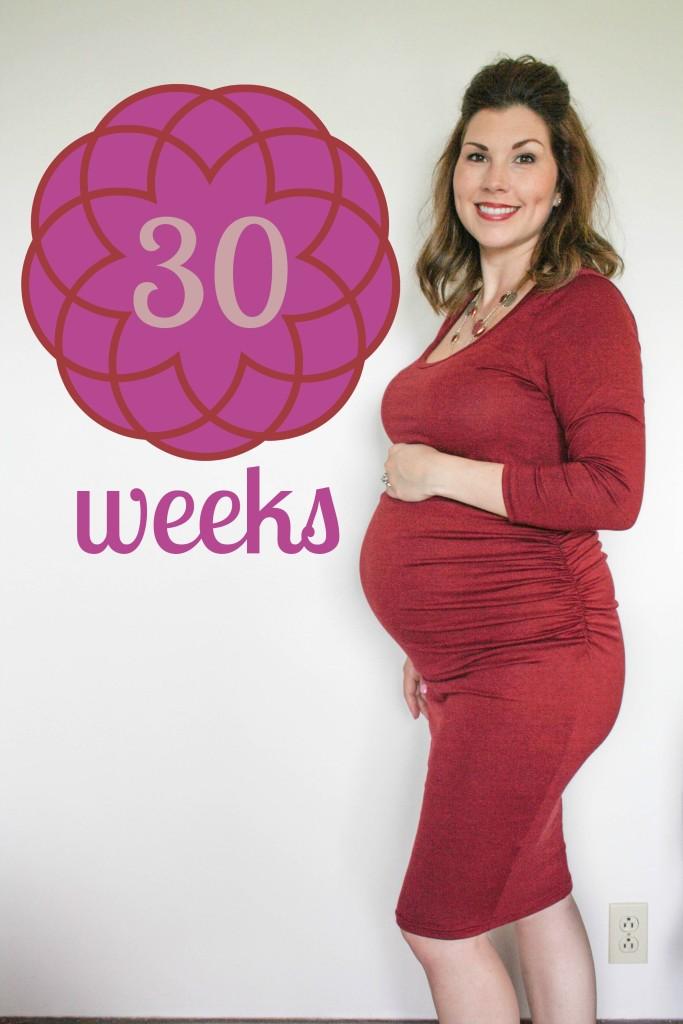 Southern Made Blog- 30 weeks Pregnancy Chalkboard Tracker