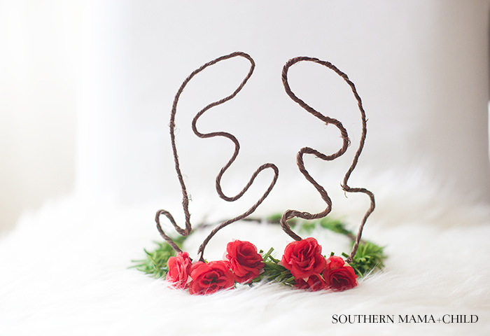 DIY: Reindeer Flower Crown