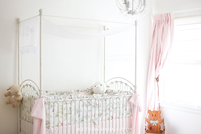 Baby Scarlett's Feminine Nursery // Beatrix & Potter and Garden Theme Room