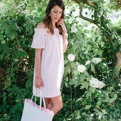 The Perfect Romantic Blush Dress