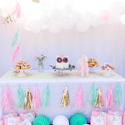 Scarlett's Donut and Unicorn 5th Birthday Party