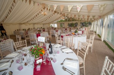 This autumn wedding marquee made full use of the lovely venue of West Hill Park in Titchfield, Hampshire.