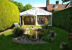 This pretty party tent fitted like a glove and a great party was had by all!
