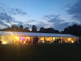 A pretty shot of the marquee whilst the party is in ful swing.