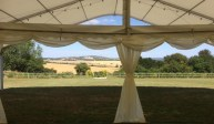 Our clear roof and panoramic windows of our multispan marquees leave no view hidden!
