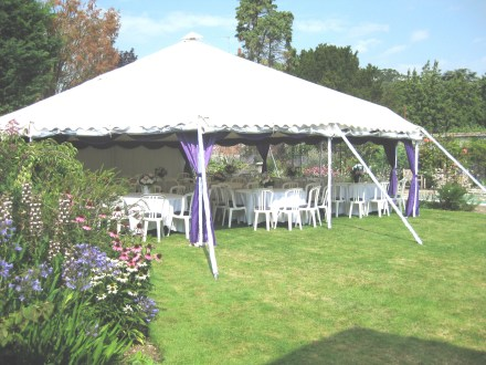 A roof only marquee gives you the benefit of shelter from the sun or rain whilst still enjoying the pretty garden.