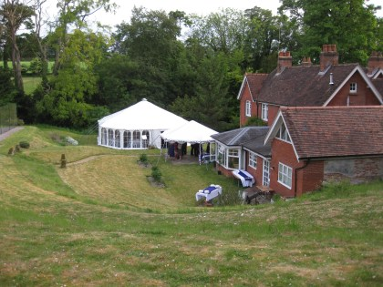 Another garden party with linked marquees to provide additional reception space.
