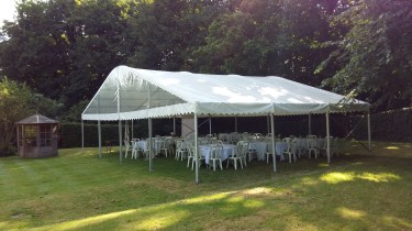 When you have lots of guests arriving for a party, we can make sure they have protection from the elements!