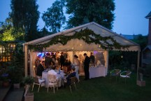 This small marquee had a pretty seating area under the attached awning for guests to enjoy the balmy evening...
