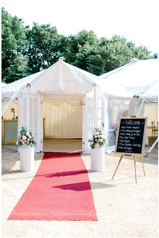 Wedding Marquee Entrance Awning