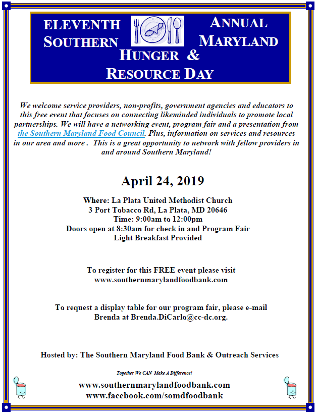 11th Annual Hunger & Resource Day flyer