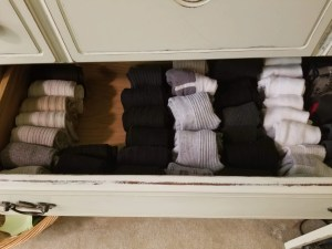 marie kondo tidying up dad's sock drawer sparks joy