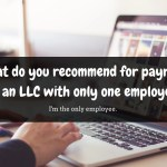 payroll for an LLC with one employee