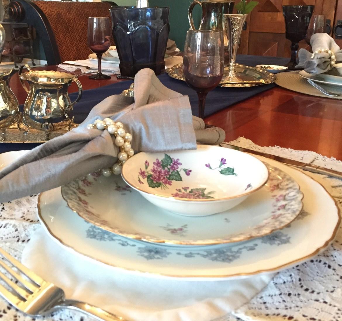 Victorian Style Vintage Tablescape