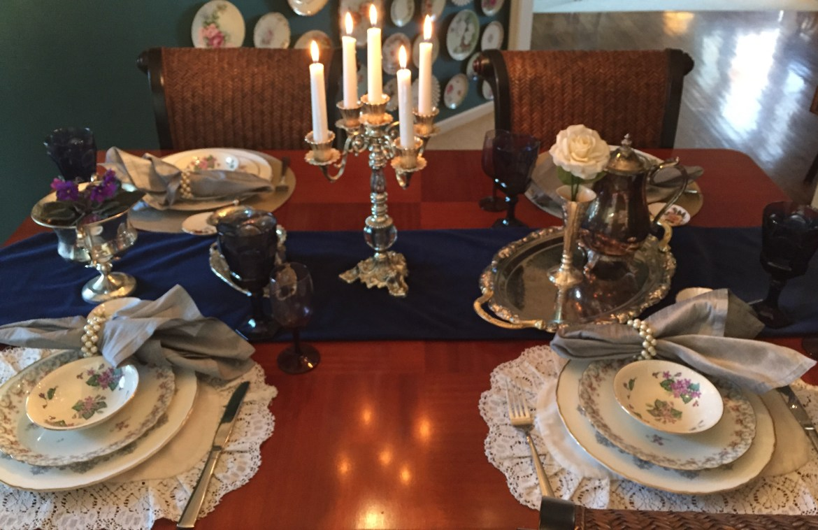 Vintage China in a Table Setting