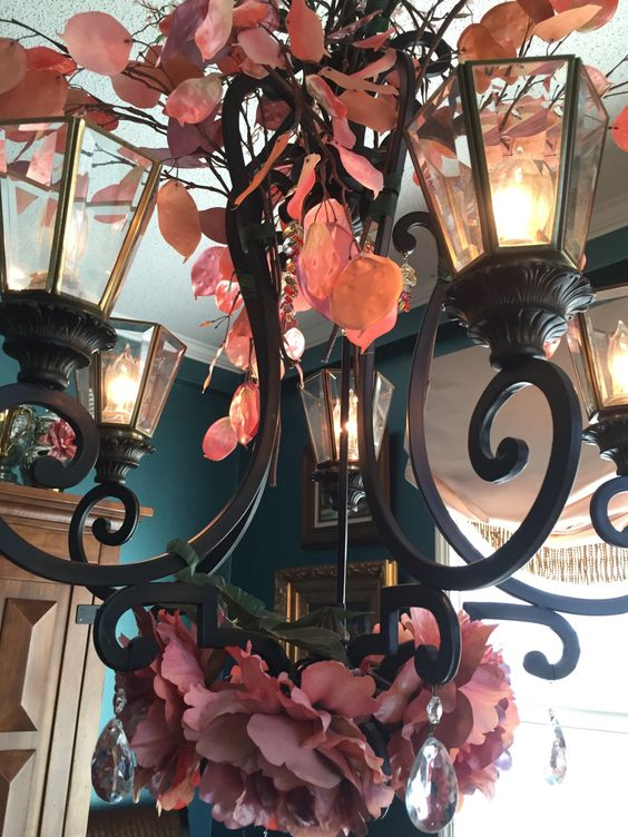 How to Decorate a Chandelier with Flowers