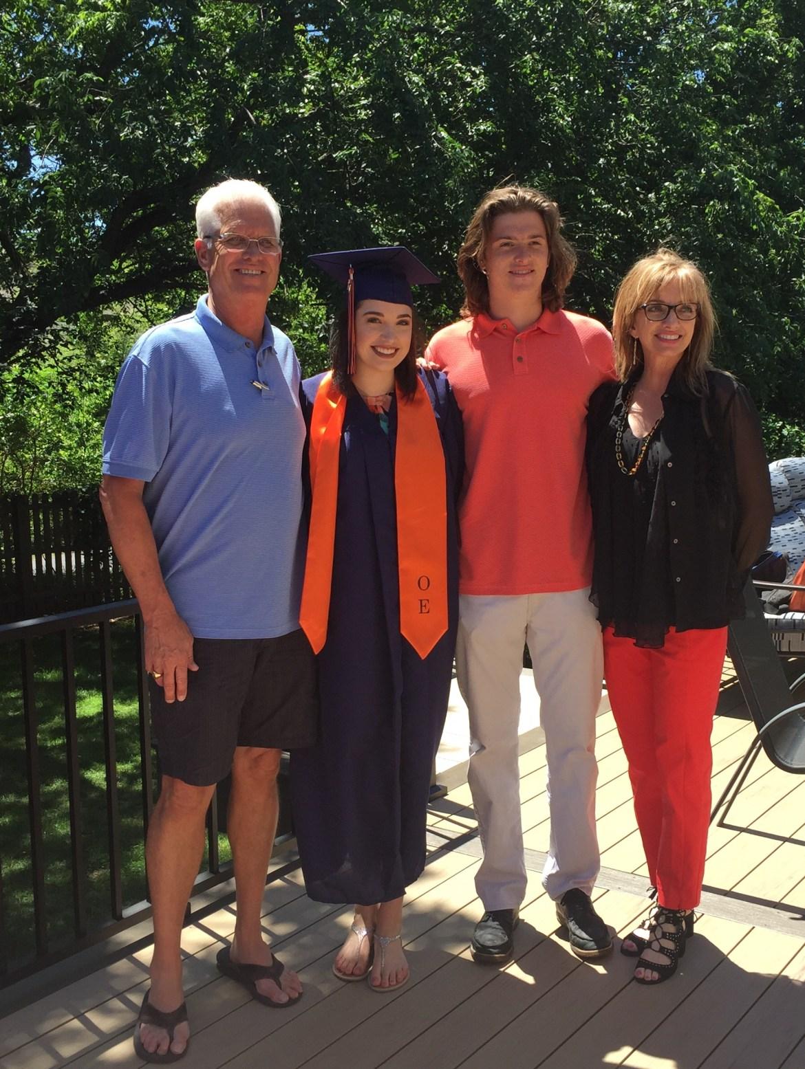 family grad picture